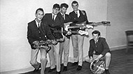 """Formative Years"" (L-R) Jim Phillips, Trevor Wright, Johnny Campbell, Paul Sargison, John Clinton"