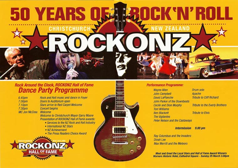 ROCKONZ 2006 Concert Brochure Inside Spread