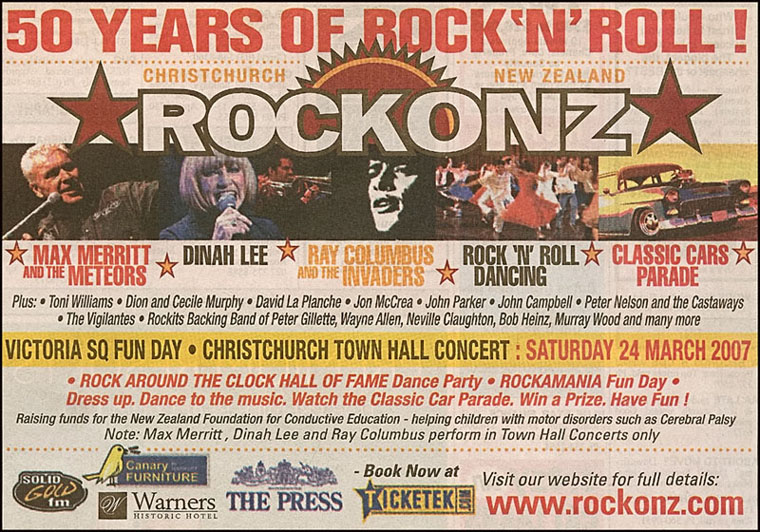 ROCKONZ 2006 Press Newspaper Advertisement